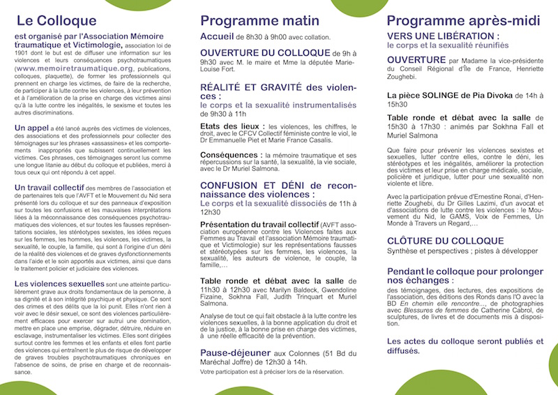 programme du colloque 2